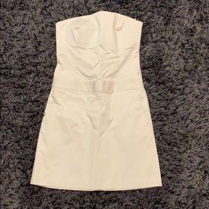 Nude strapless stefani dress